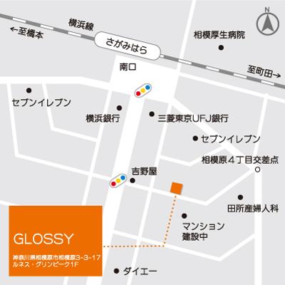 美容室グロッシーの周辺地図